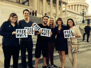 SGA gives free hugs on Capitol Hill