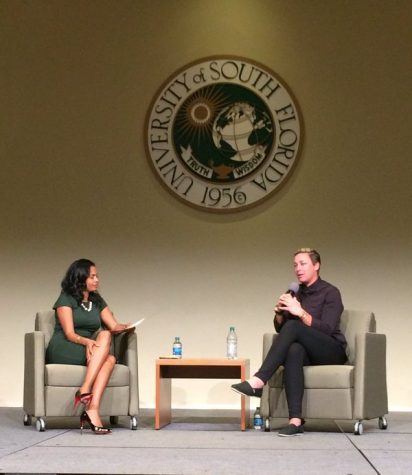 World Cup champion visits USF