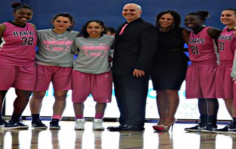 Lady Hawks Basketball Breast Cancer Awareness