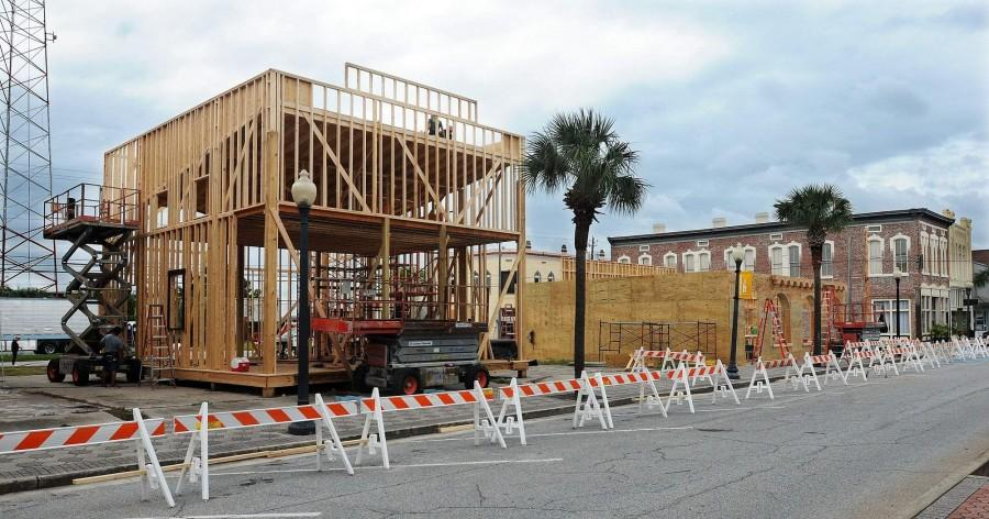 Construction is underway for a fake Ybor City in Georgia.  Photo courtesy of TBO.com