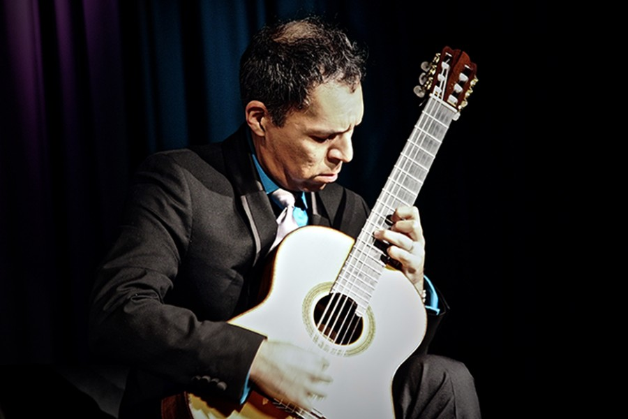 Jorge Caballero dazzles students at the HCC Brandon Campus for the SGA guitar series.