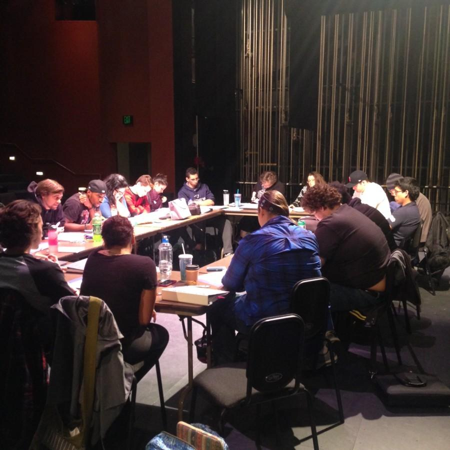 The Hamlet cast gathers for the first table reading