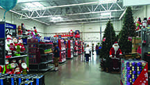 Walmart Christmas decorations arrrived weeks before Halloween