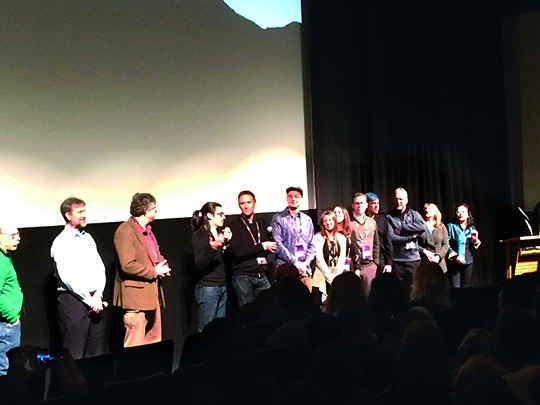 The production team of Chasing Coral receives a standing ovation at the Sundance Film Festival.