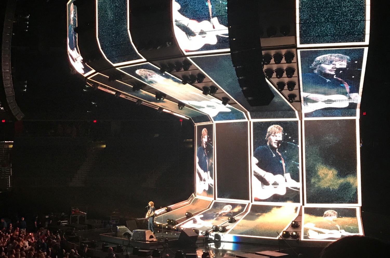 Ed Sheeran performs at Amalie Arena