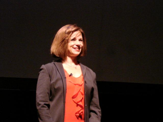 Karen Sklaire onstage in