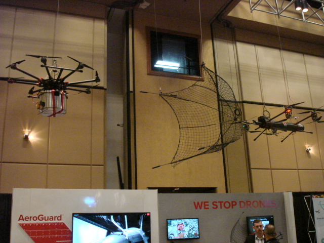 Display of a capture drone