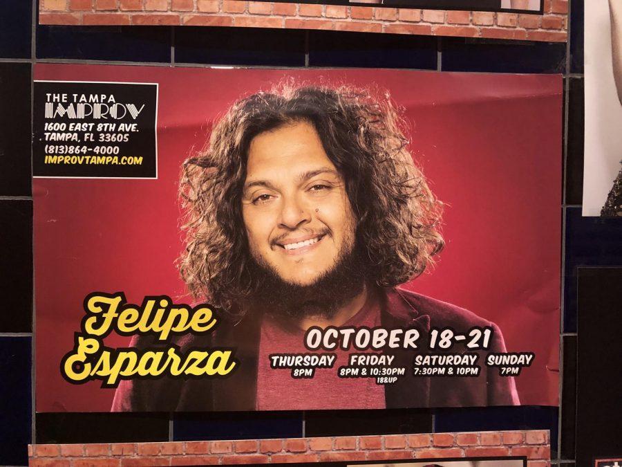 Promo for Felipe Esparza's show.