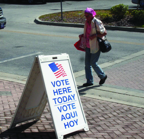 Early voters were numerous at Plant City polling places.