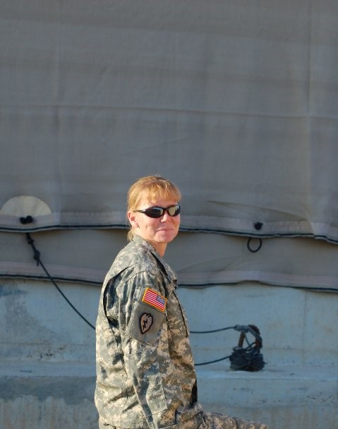 Molly Coufal of HCC in Iraq