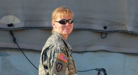 HCC staff member Molly Coufal serving in Iraq.